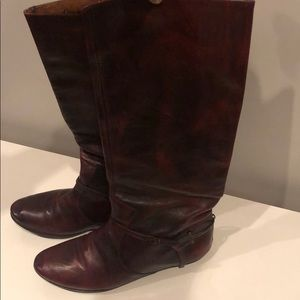 Frye Riding Boot, Wine colored leather